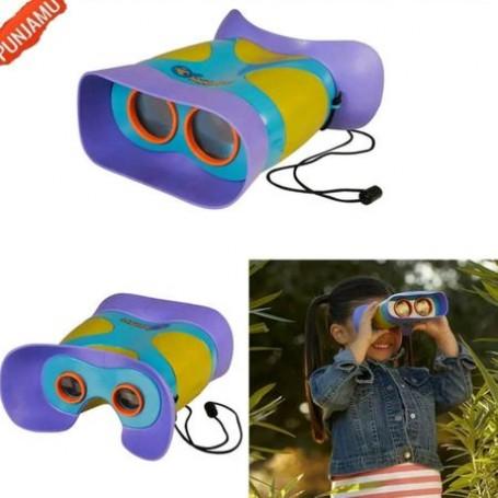 Binoclu copii 3+, mov, interactiv, 17 cm , zoom
